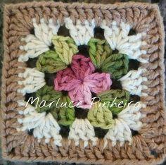 Transcendent Crochet a Solid Granny Square Ideas. Inconceivable Crochet a Solid Granny Square Ideas. Crochet Motifs, Crochet Blocks, Granny Square Crochet Pattern, Crochet Squares, Crochet Granny, Crochet Blanket Patterns, Free Crochet, Knitting Patterns, Granny Squares
