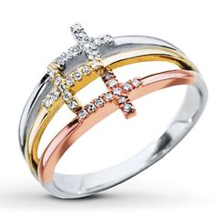 so if anybody wants to get this ring for me for Kay jewelers.. I'll love you forever+1. Perfection Diamond Cross Ring from Kay. Around $320