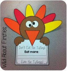 FREE craftivity - Save the Turkeys!