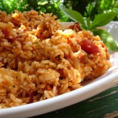 Mexican Rice. Double the veg. Broth for more tender rice