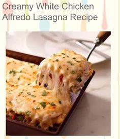 ✨ Creamy White Chicken Alfredo Lasagna Recipe✨