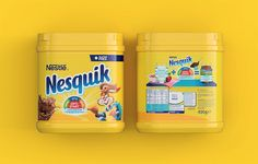 New Logo and Packaging for Nesquik by Futurebrand Bad Room Ideas, Time Capsule, Branding, Book Art, Gadgets, Bunny, Packaging Ideas, Sweet Tooth, Milk