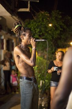 """The show stealer, however, was Barcelona-based Cuban rapper Kumar, who prowled the stage with his waist long dreads waving behind him as he chanted a call-and-response with the crowd to the chorus of his unrecorded hit that could easily become Cuba's underground anthem: """"Solo quiero conectarme la wifi / Dame la contraseña (I just want to connect to wi-fi / Give me the password)."""""""