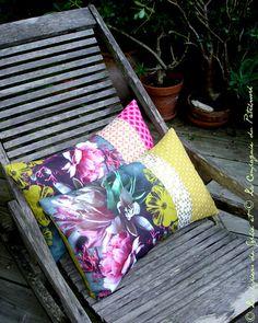 coussin patchwork La Compagnie du Patchwork/Sophie Plouvier bientôt en vente