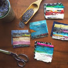 Habit of Art. small weavings and lovely colors!