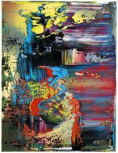 Gerhard Richter, Oil on canvas, this is a much more dramatic and chaotic piece. I love the vast use of colour creating an aggressive wave across the painting. Gerhard Richter, Modern Art, Contemporary Art, Abstract Pictures, Art Sculpture, Fine Art, Art Plastique, Oeuvre D'art, Painting Inspiration
