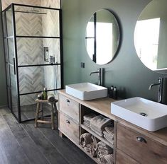 Sunday bathroom inspo from 😍 We adore the colours and details Jannike has used in this beautiful wetroom space 🖤 The Tile Insert Purus Line is so subtle 🌿 . Bathroom Inspo, Bathroom Styling, Modern Bathroom, Small Bathroom, Master Bathroom, Bathroom Vanities, Bathroom Ideas, Bathrooms, House Decoration Items