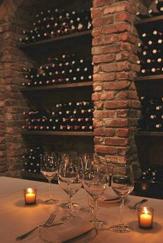 the brick pillars will break up the long wine wall......could include some built in bar area for wine tasting
