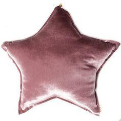 Coussin étoile velours Numéro74 rose