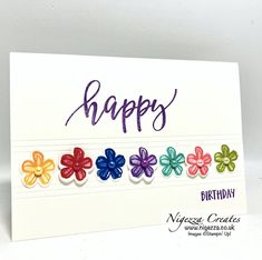 Birthday Cards, Happy Birthday, Scrapbook Cards, Scrapbooking, Stamping Up Cards, Perennials, Stampin Up, Card Ideas, Card Making