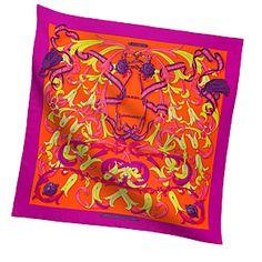 Hermes Womens Medium Silk Twill Scarves in Hot Pink | Hermes.com #PolkaDots