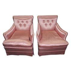 Pair of vintage upholstered armchairs $1650.00