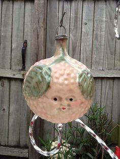 Fantastic Berry Face Glass Antique Ornament