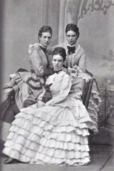 Dagmar, Alexandra, and Thyra, daughters of Christian IX of Denmark c1870s