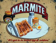There was always Marmite. Marmite sandwiches stopped me getting car sick. In Kenya we had sandwiches of mashed avocado (from the garden) and Marmite. Bizarre but delicious. Vintage Advertisements, Vintage Ads, Vintage Food, Vintage Posters, Advertising Signs, Tin Signs, Wall Signs, Home Wall Art, Wall Art Decor