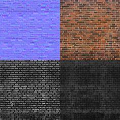 PHILIPK.NET - BRICK WALL TUTORIAL Brick Texture, 3d Texture, Tiles Texture, 3ds Max Tutorials, Normal Map, 3d Tutorial, Seamless Textures, 3d Max, Brick Wall