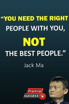 5 life changing rules from Jack Ma. Find out how you can change your life. Jack Ma, is a Chinese business magnate, investor, and philanthropist. Motivational Quotes For Success, Work Quotes, Quotes To Live By, Positive Quotes, Life Quotes, Inspirational Quotes, Deep Quotes, Business Motivation, Business Quotes