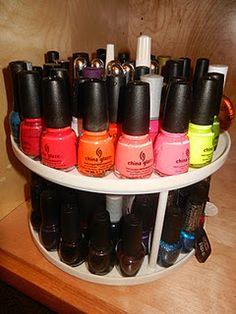 Organizing Ideas for Nail Polish !!