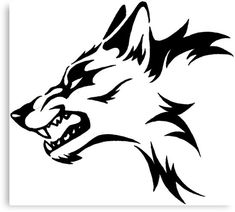 Custom made mad wolf outdoor vinyl decal 8 inch window decal UV resistant car decal jeep decal kayak decal mailbox truck decal Wolf Tattoos Men, Tribal Wolf Tattoo, Wolf Tattoo Design, Dog Tattoos, Tribal Tattoos, Wolf Design, Celtic Tattoos, Sleeve Tattoos, Tattoo Designs