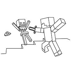 Minecraft Coloring Page – Coloring Picture – Steve and Skeleton Make your world more colorful with free printable coloring pages from italks. Our free coloring pages for adults and kids. Easter Coloring Pages, Cartoon Coloring Pages, Coloring Pages To Print, Coloring Pages For Kids, Coloring Books, Lego Coloring, Coloring Worksheets, Fairy Coloring, Steve Minecraft