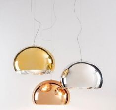 Kartell FL/Y (copper, gold and silver finish)