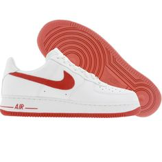 Nike Womens Air Force 1 Low (white / varsity red / white / black)