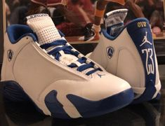 Jordan Brand blessed Drake with an unreleased OVO Air Jordan 14 dressed in  the Kentucky Wildcats color scheme in White 69d996457
