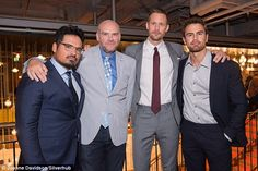A work thing: Alex and Michale met up with director John Michael McDonagh (Centre Left) an...