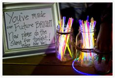 Glow Stick Bar - Romantic Boho Wedding