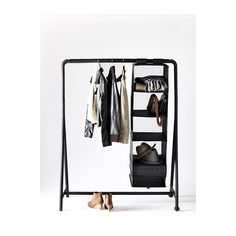TURBO Garderobestativ IKEA Kan bruges både indendørs og udendørs. Nem at samle - klikkes af eller på. Nem at flytte. Inkl. hjul.