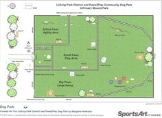Park Layout - Paws2Play Community Dog Park