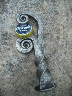 Bottle Opener Hand Forged from Steel by NelmsCreekmurForge on Etsy
