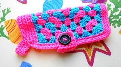 Crochet Granny Square Dog Sweater Easy to put on by kamsstorecom