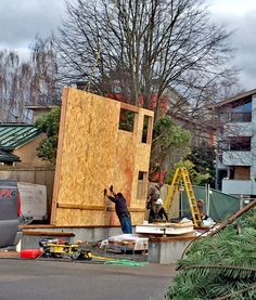 The First Wall Goes Up Find This Pin And More On West Seattle Nursery