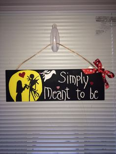 hand painted nightmare before christmas sign