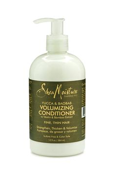 Shea Moisture Yucca & Baobab Volumizing Conditioner   This conditioner has so much slip and really moisturizes and reduces shedding in my hair