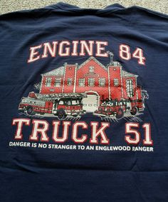 Chicago Fire Department T-Shirt Engine 84 Truck 51 Englewood Ranger Graphics 2XL #FruitoftheLoom #HeavyGraphicTShirt