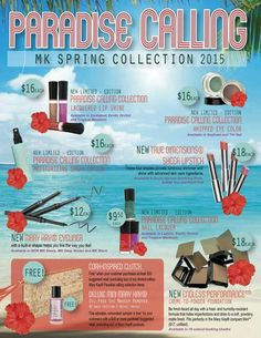 Our new Spring Collection!  Check out my website at www.marykay.com/jnicholson2 to order or try our virtual makeover!
