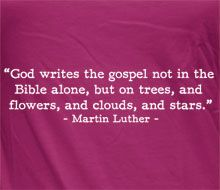 Martin Luther - God Writes the Gospel (Quote) - Women's Shirts Gospel Quotes, Me Quotes, How He Loves Us, People Quotes, Powerful Words, Good Thoughts, Quotable Quotes, Woman Quotes, Christian Quotes