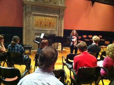 teaching a master class in honor of World Voice Day last year. Missing Her, Master Class, The Voice, Teaching, World, Day, Education, The World, Onderwijs