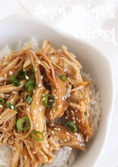 Healthy Honey Teriyaki Chicken for the slow cooker or Instant Pot!