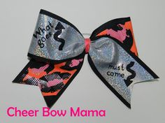 What goes up, must come down... Cheer Bow by Cheer Bow Mama