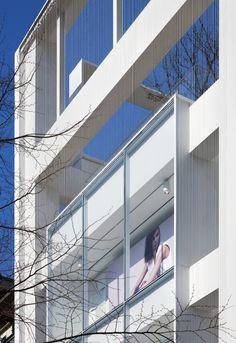 Gallery of H&M Seoul Hongdae Store / Yeonghwan Lim + Sunhyun Kim - 13 Poster Display, Commercial Street, Hongdae, Brick Facade, Building Facade, Cladding, Skyscraper, Exterior, Architecture