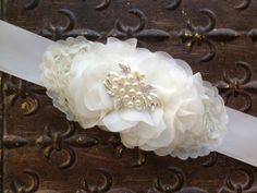Flower Girl Belt Flower Girl Sash Bridal Sash by TheRaggedDiamond, $28.00