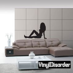 Sexy Girl Wall Decal - Vinyl Decal - Car Decal - CF8041
