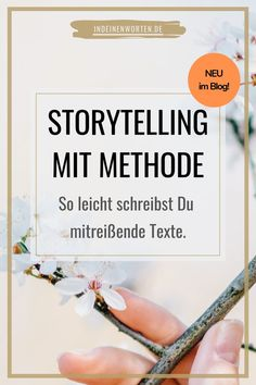Storytelling mit Methode: So leicht schreibst Du mitreißende Texte Storytelling is a method that we all master. Because we do it every day: tell stories. Here I tell you the 4 most important rules to write texts about your expertise… Continue Reading → Content Marketing, Social Media Marketing, German Resources, Buisness, Digital Media, Writing A Book, Creative Writing, Storytelling, Online Business