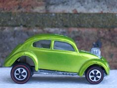 Hot Wheels Redline Custom VW Volkswagen in Spectraflame Lime Green Anti Freeze Colour Awesome Car