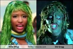 Nicki Minaj Totally Looks Like Old Gregg