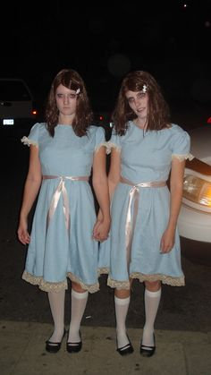 """This was a homemade costume for Halloween 2009 that was created by myself and my fellow """"twin"""" Whitney Mahoney. We sewed the.."""