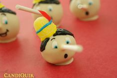 Pinocchio cake pops using stick as the nose-ingenious! Many Cake Pop Ideas on this site. 34 Amazing Cake Pop Recipes to Make Print It Pretty Invitations pipinvitations Disney party Pinocchio cake pops using stick as the nose-ingenious! Many Cake Po Disney Cake Pops, Disney Cakes, Disney Food, Disney Pixar, Disney Characters, Cake Pops How To Make, Food To Make, Pinocchio, Edible Crafts